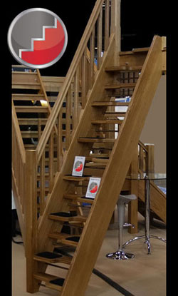 Oak 40 Openplan Spacesaver Staircase