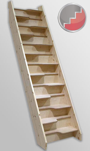 Economy Space Saver Or Loft Staircase Birch 40 From