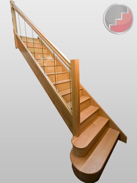 Elegant Houston Oak Glass Balustrade Staircase