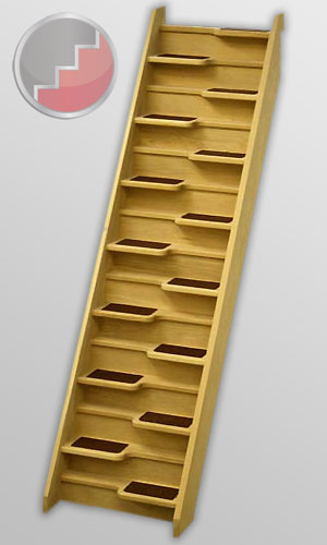 Oak 40 Spacesaver Staircase