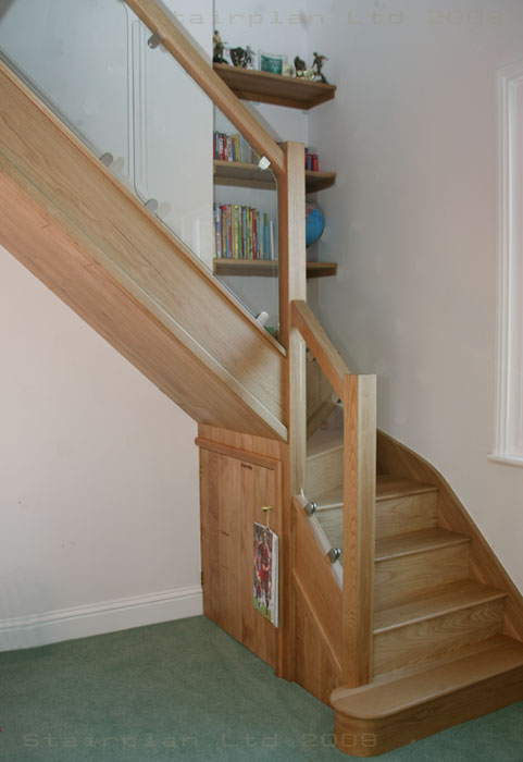 Oak Staircase with Vision Balustrade