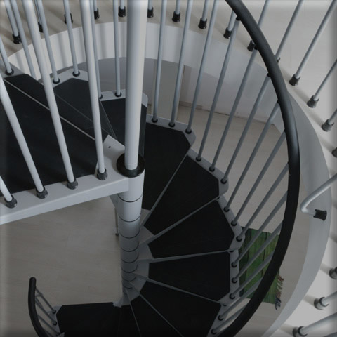 Civic spiral staircase in Grey