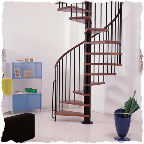 Klan spiral staircase black with dark